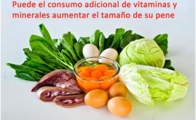 Puede el consumo adicional de vitaminas y minerales aumentar el tamaño de su pene