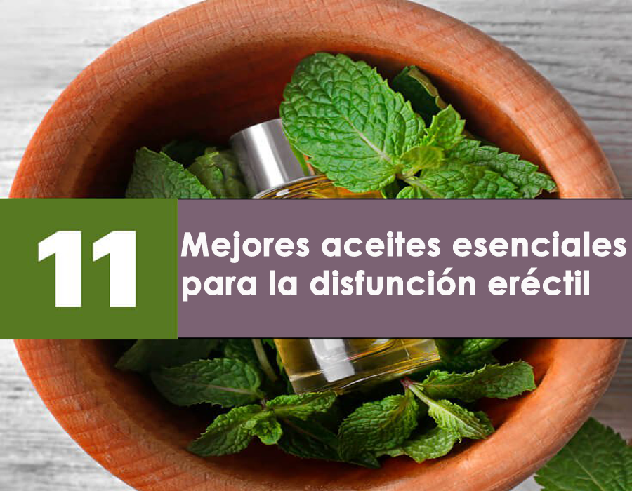 mejores aceites esenciales para la disfunción eréctil