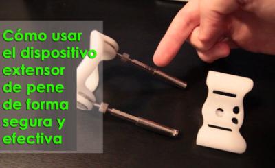 Cómo usar el dispositivo extensor de pene