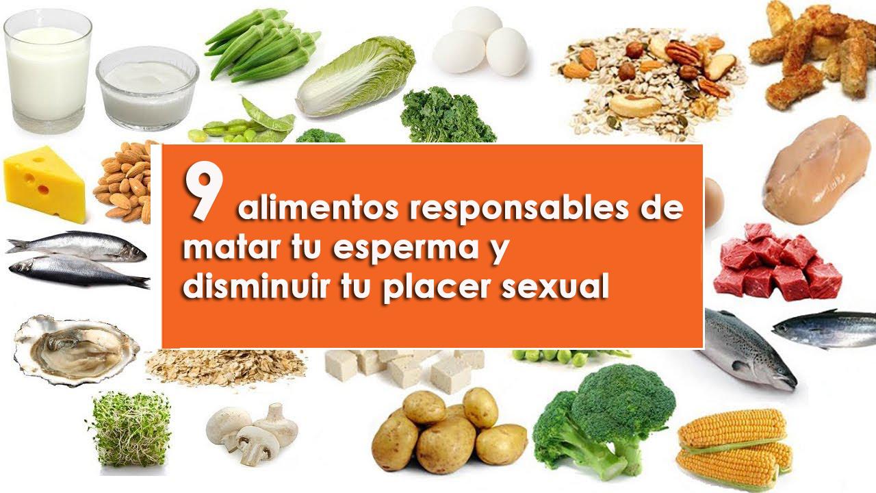 alimentos responsables de matar tu esperma y disminuir tu placer sexual